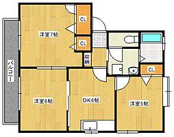 カームネスコート B棟[2階]の間取り