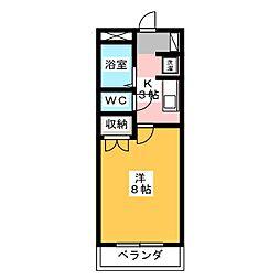 カーサU[1階]の間取り