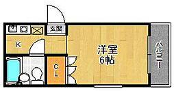 ネックス武庫之荘[201号室]の間取り