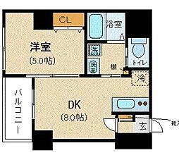 LIVEMAX HARVEST 4階1LDKの間取り