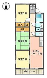 愛知県名古屋市名東区香流1丁目の賃貸マンションの間取り