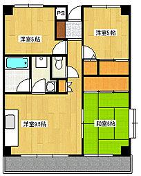 第二藤ビル[4階]の間取り