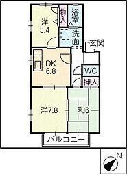 アグリーブル A棟[1階]の間取り