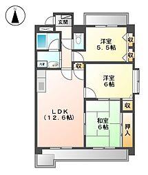 モネ水草[4階]の間取り