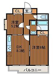 アルトーレ町田[3階]の間取り