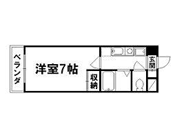京卓ハイツ[5階]の間取り