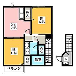 ニュークレストールT・D II[2階]の間取り