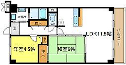 シェモア平野駅前[5階]の間取り