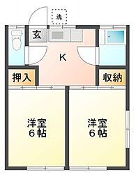 第2旭荘[2階]の間取り