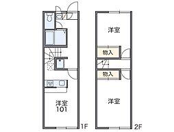 [テラスハウス] 東京都八王子市元八王子町2丁目 の賃貸【/】の間取り