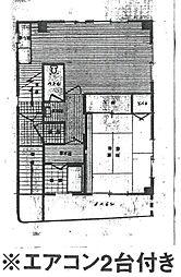 数田ビル[2階部分号室]の間取り