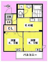 ウインサム高円寺[302号室]の間取り