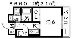 ASUKI COURT(アスキコート)[405号室号室]の間取り