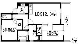 兵庫県伊丹市荒牧南2丁目の賃貸アパートの間取り