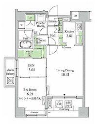 パークアクシス三宿[4階]の間取り