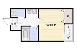 ツインコート平野1番館2番館[3階]の間取り