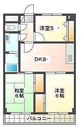 カスタムA[4階]の間取り