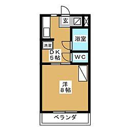 ラッセルコートA[1階]の間取り