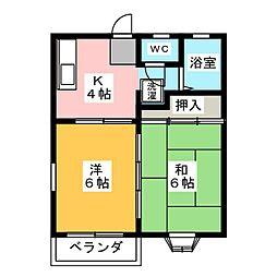 ビューラー常盤[2階]の間取り
