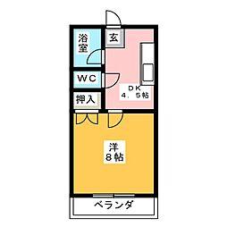 第5田畑ハイツ[3階]の間取り