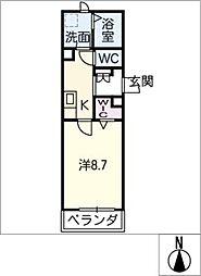 NGE山王 3階1SKの間取り
