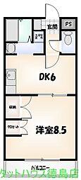 中山ビル第1[105号室]の間取り