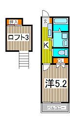 ピュアハウスIII[2階]の間取り