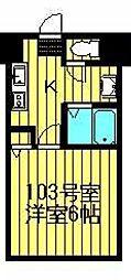 宮城県仙台市太白区向山2丁目の賃貸マンションの間取り