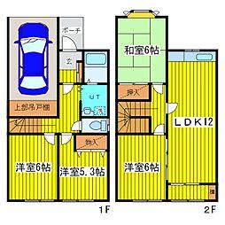 [テラスハウス] 北海道札幌市東区北三十三条東6丁目 の賃貸【/】の間取り