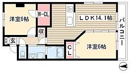 愛知県名古屋市守山区鳥神町の賃貸マンションの間取り