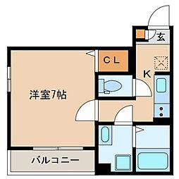 仮称 海楽2丁目D-room計画[105号室]の間取り