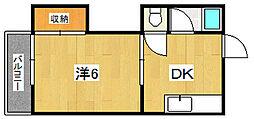 大楠光ハイツ[2階]の間取り