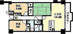 パデシオン宇治木幡[4階]の間取り