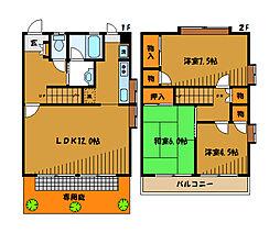 [テラスハウス] 東京都小平市学園東町 の賃貸【/】の間取り