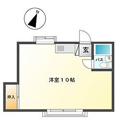 愛知県名古屋市天白区大根町の賃貸アパートの間取り