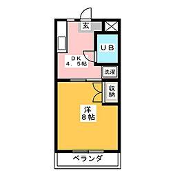 ハイツ栄光III[3階]の間取り