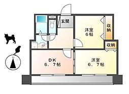第2中央ビルディング[3階]の間取り