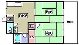 祝井ハイツ[1階]の間取り