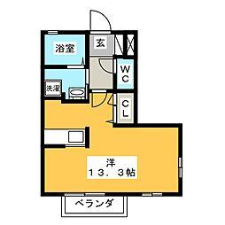 プレミール DE[2階]の間取り