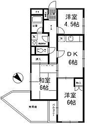 大倉山ビューハイツ[101号室]の間取り
