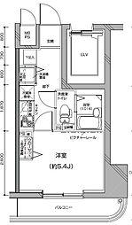 Le'a横濱中央[206号室]の間取り
