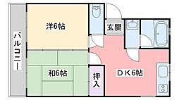 ローレルハイツIII[303号室]の間取り