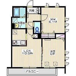 バルトハウス[2階]の間取り