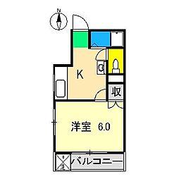 オレンジハイツ(高須)[2階]の間取り