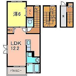 E・泉田道[3階]の間取り