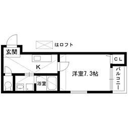 グレシャスコート[2階]の間取り