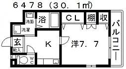 ハートフルOKA[203号室号室]の間取り