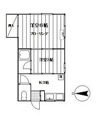 かおりハウス[102号室]の間取り