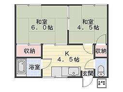 菅野荘[102号室]の間取り