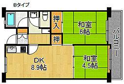 佐野湊団地[8階]の間取り